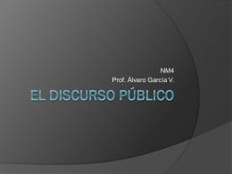 El discurso público - Profe ÁLVARO GARCÍA Lenguaje y