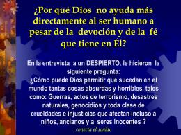 1- ¿Por qué Dios no nos ayuda?