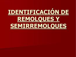 IDENTIFICACIÓN DE REMOLQUES Y SEMIRREMOLQUES