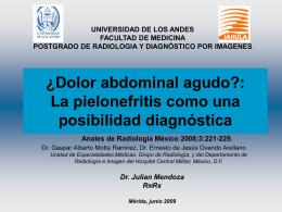 ¿Dolor abdominal agudo? - Universidad de Los Andes