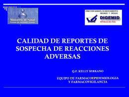 datos incompletos de la reaccion adversa sospechada
