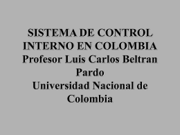 sistema de control interno en colombia - UN Virtual