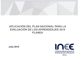 Aplicación PLANEA 2015 - Educación y Cultura: Revista AZ