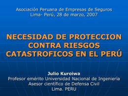 """""""REDUCCION DE DESASTRES Viviendo en Armonía con"""