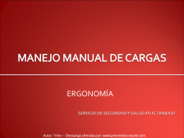Manejo manual de cargas- Ynbv- PW