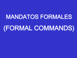 Formal Command ppt