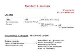 Sendero Luminoso (pps) - Facultad de Derecho