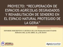 "proyecto: ""recuperación de espacios agrícolas"