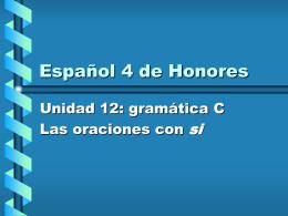 Español 4 de Honores