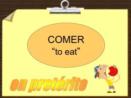 Preterito de Comer