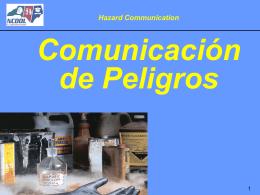 Comunicación de Peligros
