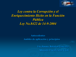 Ley contra la Corrupción y el Enriquecimiento Ilícito en la Función