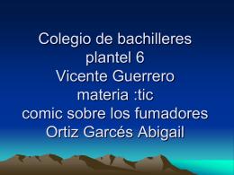 Colegio de bachilleres plantel 6 Vicente Guerrero materia :tic comig