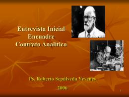 Entrevista Inicial Encuadre – Contrato Analítico