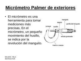 Micrómetro Palmer de exteriores