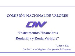 Instrumentos Financieros - Comisión Nacional de Valores