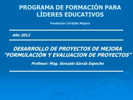 PROCESO GERENCIAL - Fundación Córdoba Mejora
