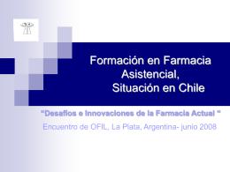 Desarrollo de la Labor Farmacéutica en la Atención Primaria de Salud