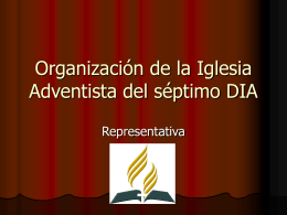 Organización de la Iglesia Adventista del séptimo DIA