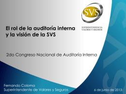 El rol de la auditoría interna y la visión de la SVS