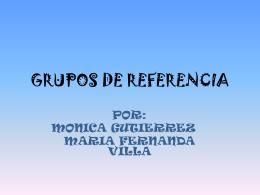 grupos de referencia - COMPORTAMIENTODELCONSUMIDOR