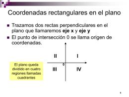 Coordenadas rectangulares en el plano