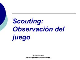 Scouting: Observación del juego