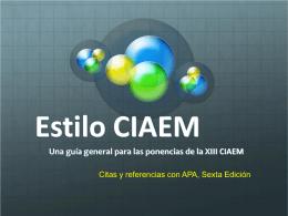 EstiloCIAEMparaponencias - Centro de Investigaciones