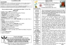 22 Septiembre 2013 - Iglesia Cristiana Evangélica de Colmenar Viejo