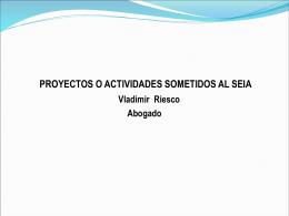 Proyectos o actividades sometidos al SEIA articulo 3º Reglamento