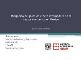 Mitigación de gases de efecto invernadero en México Claudia