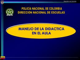 MANEJO DIDACTICA EN EL AULA