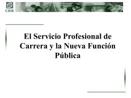 Nueva Gestión Pública DAG - Secretaría de la Función Pública