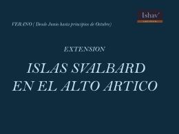 Islas Svalvard (Extensión)