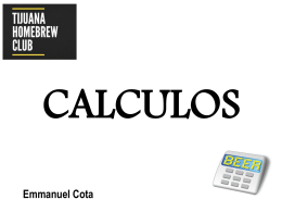 Presentacion CALCULOS - Tijuana Homebrew Club
