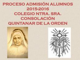 Admision 2015-2016 - Colegio de la Consolación de Quintanar de