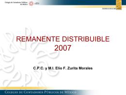 Remanente distribuible - Despacho CP Elio T. Zurita y Asociados