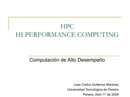 HPC PRESENTACION ABRIL17 K9