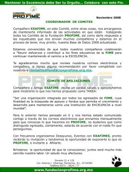 Actividades de Comités Noviembre 2008 - Fundacion Pro-FIME