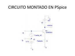 CIRCUITO MONTADO EN PSpice - electronicaIII-01