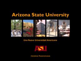 Iniciativas Panamericanas - Arizona State University