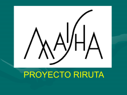 PROYECTO RIRUTA (Power Point)