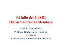 El fallo del CIADI Obras Sanitarias Mendoza