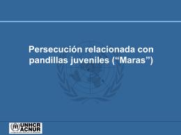 Persecución por pandillas juveniles (maras)