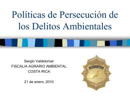 POLITICAS DE PERSECUCIÓN