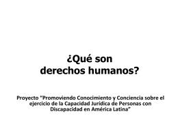 ¿Qué son derechos humanos? - Fundación para las Américas