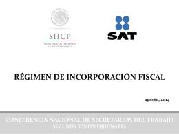 régimen de incorporación fiscal. shcp, sat.