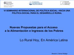 Lo Rural Hoy, En América Latina