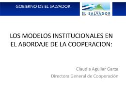 Sra. Claudia Aguilar. Viceministerio de