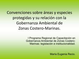 Convenciones sobre áreas y especies protegidas